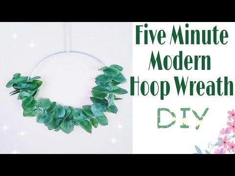 Five Minute Modern Hoop Wreath | Modern Eucalyptus Wreath | DIY ||