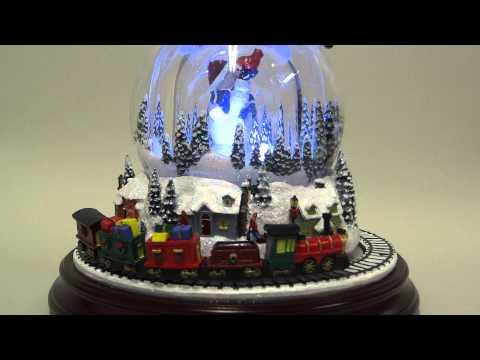 Double Snowman - Snowman in a Snow Globe Music Box
