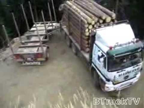 Niewiarygodny manewr zawracania. Zawracanie ciężarówką.