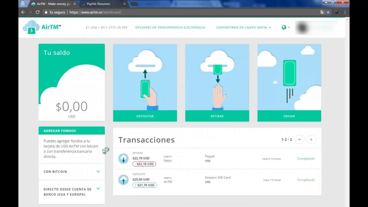 Tutorial como Cambiar Dolares de Giftcard Amazon a Paypal con Airtm