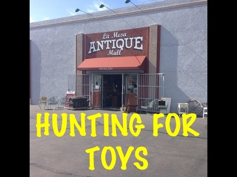 TOY HUNTING at ANTIQUE STORE MAY 2016