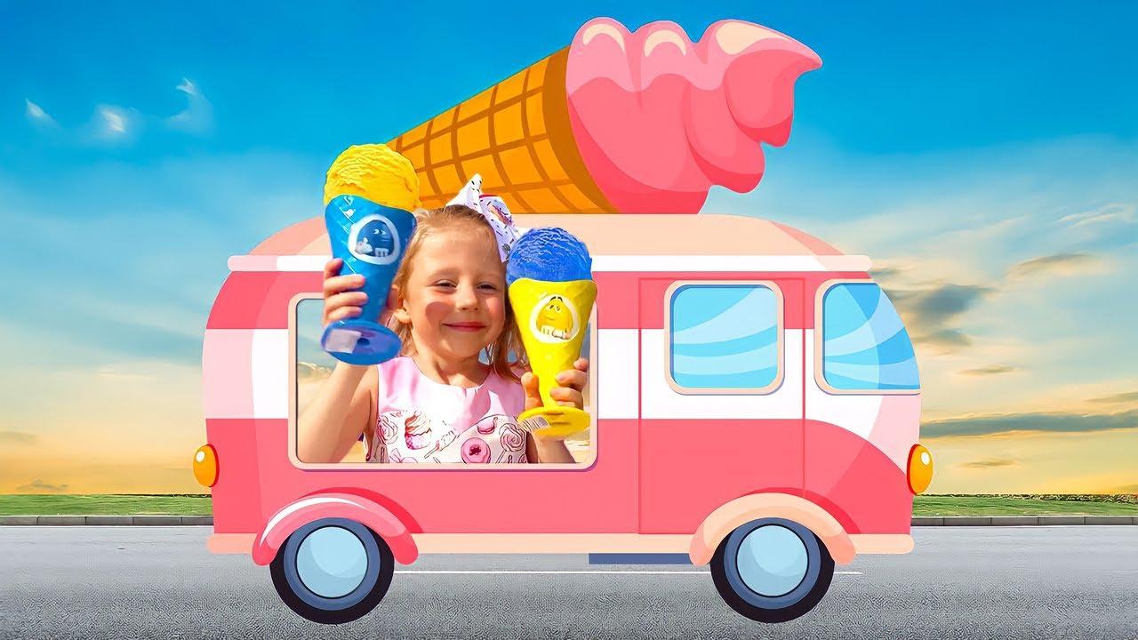 नस्त्या ने आइसक्रीम की दुकान खोल कर खेलने का नाटक किया।