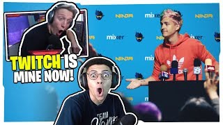 STREAMERS REACT TO NINJA LEAVING TWITCH FOREVER!
