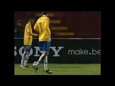 Brasil 6 x 0 Uruguai  Campeão Sul-Americano Sub 20 Neymar e Lucas Show.