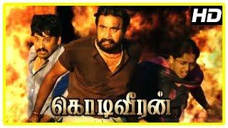 Kodi Veeran Movie Scenes | Sasikumar saves Vidharth and Sanusha | Inder Kumar loses his life
