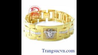 Lắc tay Versace, lắc tay vàng cao cấp, lac tay nam, TSVN017509