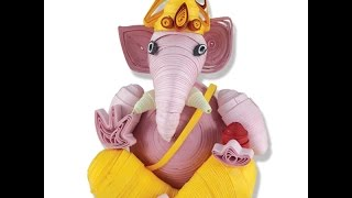 DIY : How to make quilling paper eco frindly  ganesh easy step by step