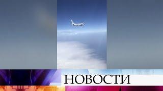 Над Черным морем рядом с российской границей перехвачен американский самолет-разведчик.