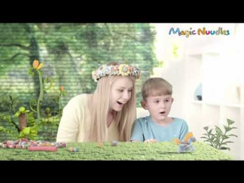 Mom & child love to play magic nuudles