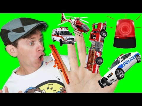 Thumbnail: Finger Family Song - Emergency Vehicles with Matt | Action Song, Nursery Rhyme | Learn English Kids