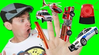 Finger Family Song - Emergency Vehicles with Matt | Action Song, Nursery Rhyme | Learn English Kids