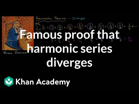 Famous proof that harmonic series diverges