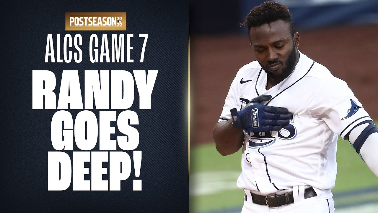 Rays' Randy Arozarena CRANKS 2-run shot in 1st inning of ALCS Game 7!