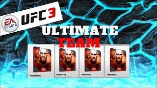 UFC 3 Ultimate Team - Massive PREMIUM PACK OPENING! - UFC 3 Ultimate Team Gameplay
