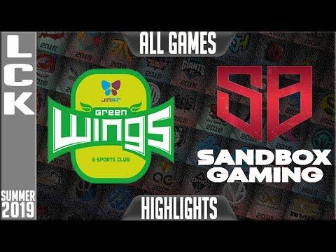 JAG vs SB Highlights ALL GAMES | LCK Summer 2019 Week 4 Day 3 | Jin air Greenwings vs Sandbox Gaming