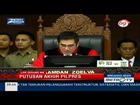 MK Tolak Gugatan Prabowo-Hatta
