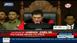 MK Tolak Gugatan Prabowo Hatta