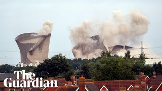 Didcot Power Station Cooling Towers Demolished