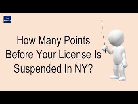 How Many Points To Suspend License In Ny >> How Many Points Before Your License Is Suspended In Ny Youtube