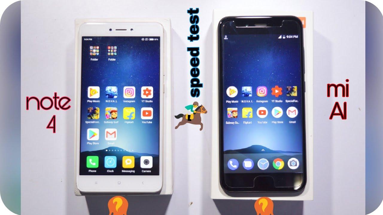 Xiaomi Redmi Note 4 Stock Wallpapers: Redmi Note 4 Vs Xiaomi A1 Speed Test//miui 8.5 Vs Stock