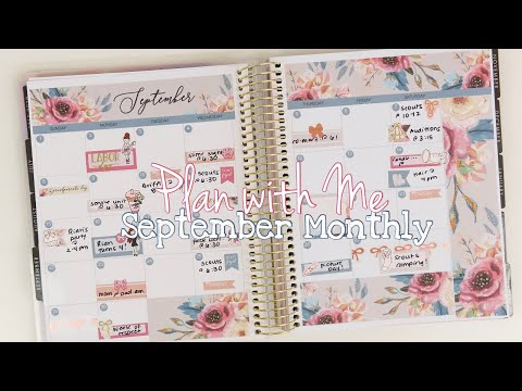 Plan with Me // September Monthly // Paper Crown Planner