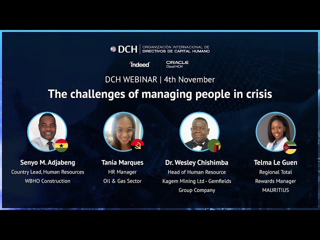 The challenges of managing people in crisis