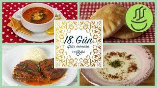 Ramazan 18. Gün İftar Menüsü: Patlıcan Kebabı - Ezogelin Çorbası - Pita Ekmeği - Sütlaç