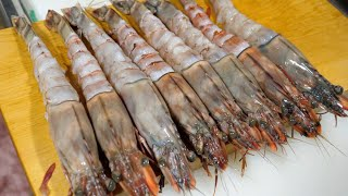 Making Huge Fried Prawns with [Sea Tiger Prawns]!