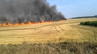 pożar zboża w jaźwinie 6.08.2015