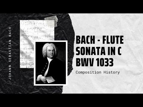 Bach - Flute Sonata in C BWV 1033