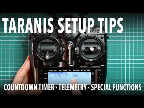 Taranis setup - flight countdown timer, telemetry, logical switches and  special functions