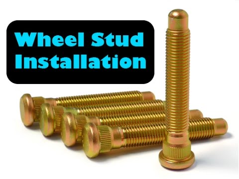 DIY Wheel Stud Replacement on any Toyota, or spline wheel studs (AUDIO FIXED RE-UPLOADED)