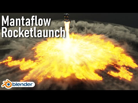 Blender Mantaflow Advanced Tutorial 2.82 [Rocketlaunch]   English thumbnail