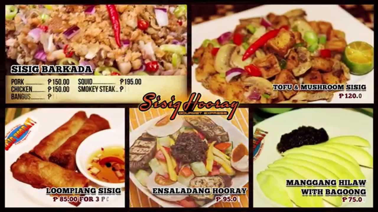House Of Sisig Restaurant Menu