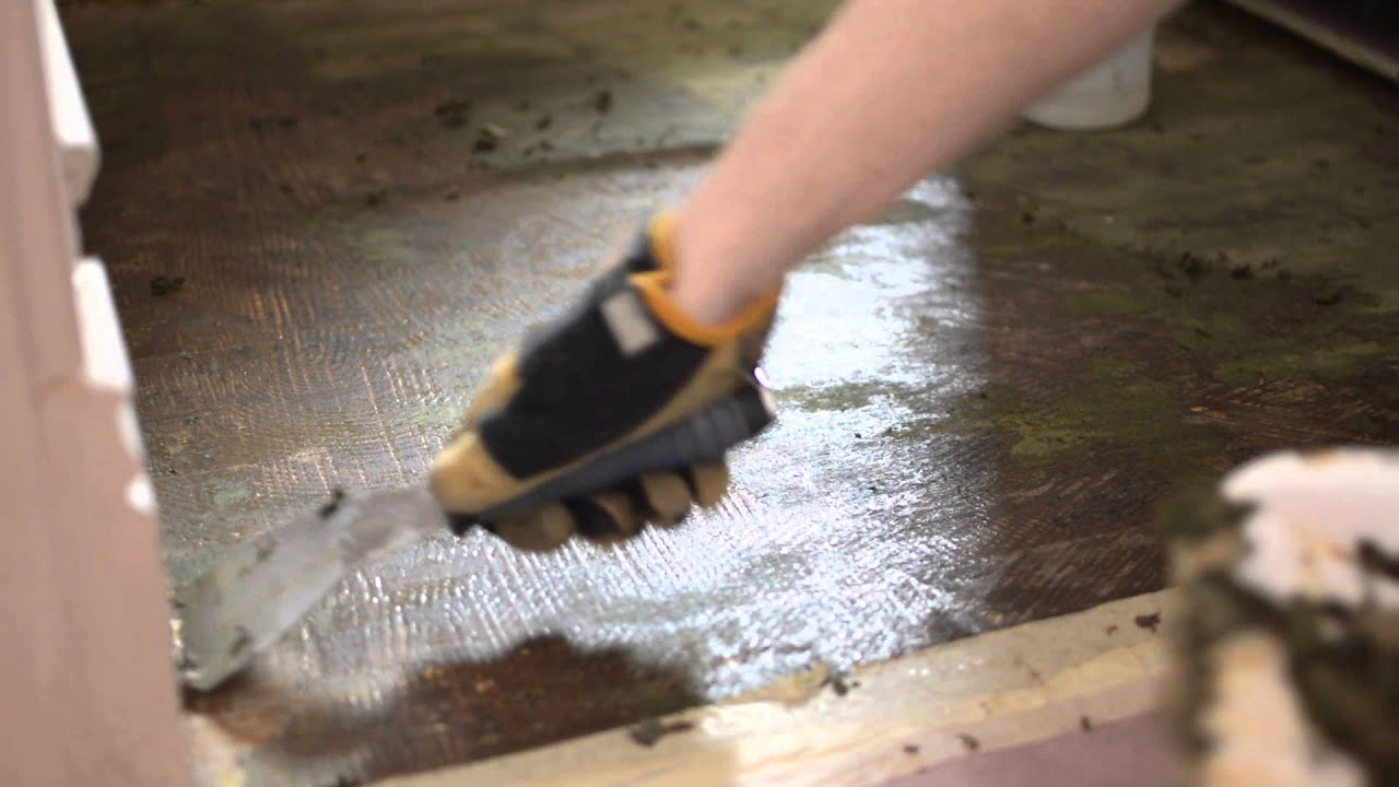 Removing Adhesive From Hardwoods Covered With Linoleum And Green - How to remove tar adhesive from wood floor