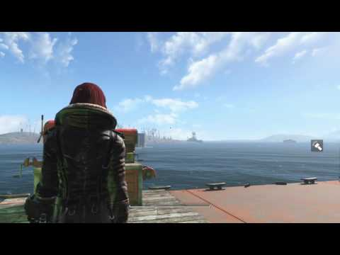 Fallout 4 PS4 MODS - LARGE BARGE SETTLEMENT