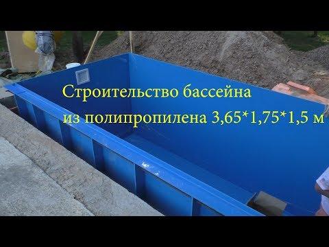 Строительство бассейна из полипропилена 3,65*1,75*1,5 м. ЧАСТЬ ПЕРВАЯ