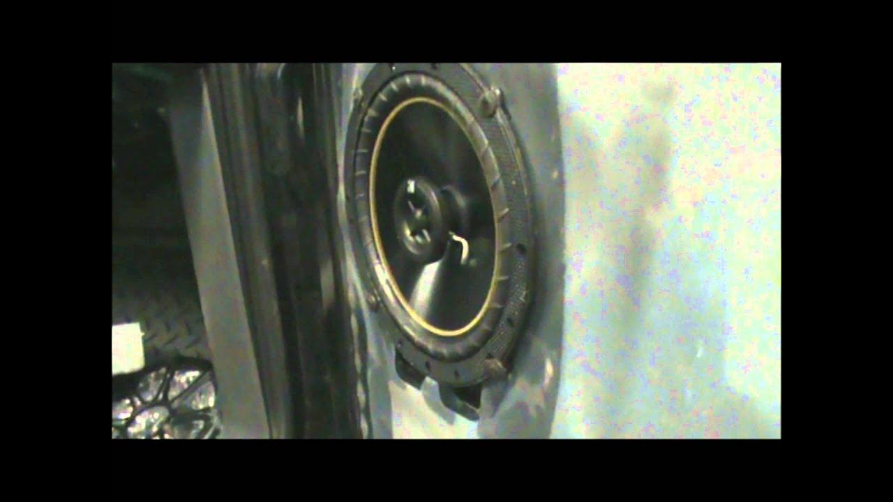 Cab Speakers Install 65 Kickers And 4x6 Qpowers Rear Car Audio  Youtube