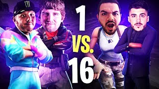 16 ALIVE... CAN I CLUTCH?! W/ NICKMERCS, COURAGE & HYSTERIA | Fortnite Battle Royale Highlights #238