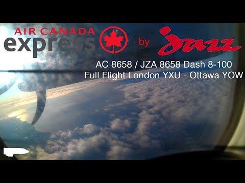 Full Flight - Air Canada Express - Dash 8-100 - London YXU to Ottawa YOW, AC 8658,