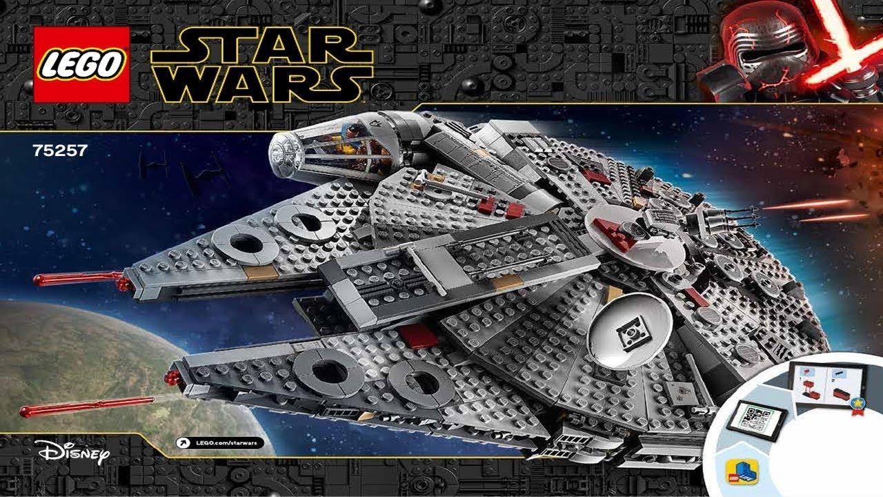 Lego Instructions Star Wars 75257 Millennium Falcon Youtube