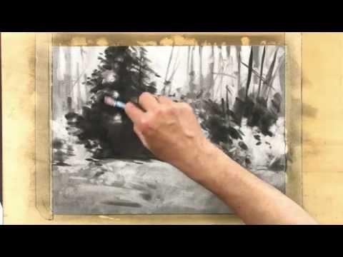 Bettags Malschule – Malen mit Kohle – Die Flächentönung