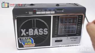SONiLEX SL-551 - обзор радиоприёмника с USB и SD