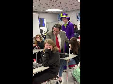 Matt Foley visits Tuckerman High School