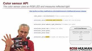 Python ev3dev - 04 Analog Sensors - 02 ColorSensor
