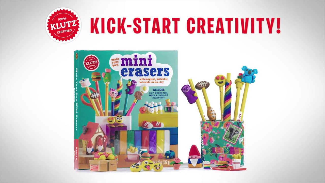 How to make clay toys use various shaping tools to - Klutz Make Your Own Mini Erasers