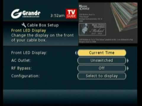 Motorola Cable Box Front Display - YouTube