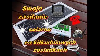 Swoje zasilanie solarne na kilkudniowych zasiadkach karpiowych.