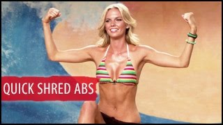 5 Min Quick Shred Abs Workout: Surfer Girl- Amber Gregory
