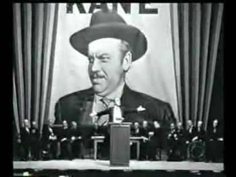 citizen kane speech Film analysis: citizen kane one of the most peculiar incidents in the history of film was in 1941, when a first time director was able to introduce a new mode of artistry and expertise as an innovative cinematographer.